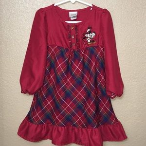 Minnie and Mickey Mouse Christmas gown size 2/3T